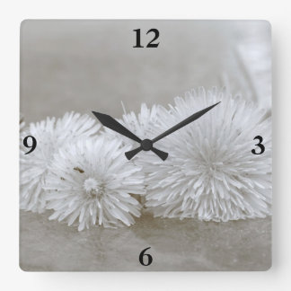 "Floating Dandelions on ""Water"" Clock"