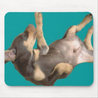 Floating Doberman Puppy Mouse Pad