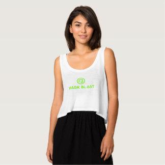 floating docker white green traditional logo tank top