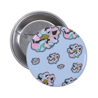 Floating flowers button