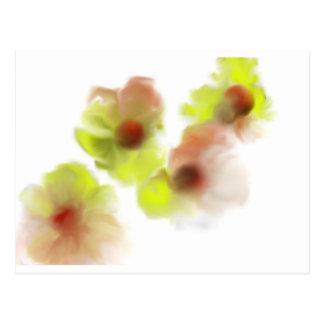 Floating Flowers Design Postcard