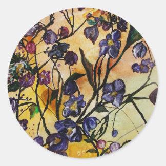Floating Flowers Sticker
