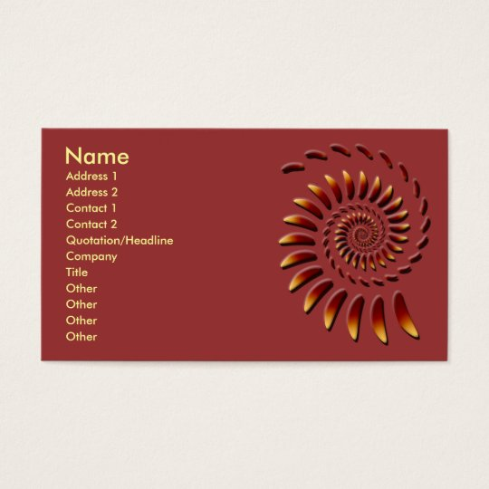 Floating Fractal Abstract Art Business Card