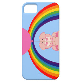 Floating Fying Pig Over the Rainbow Barely There iPhone 5 Case