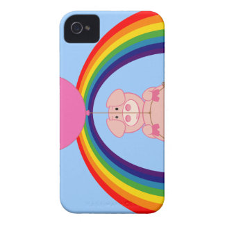 Floating Fying Pig Over the Rainbow iPhone 4 Case
