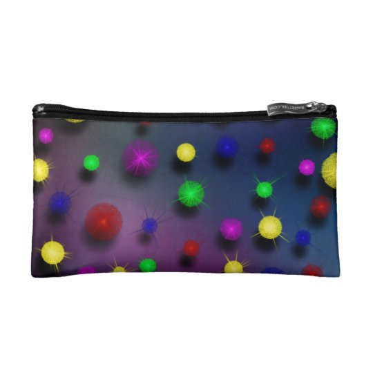 Floating Globes Cosmetic Bag