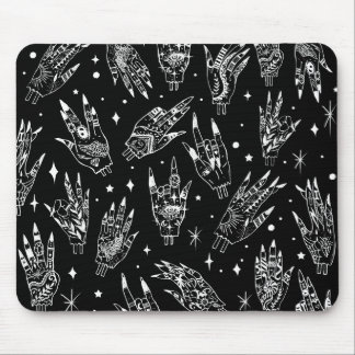Floating Gothic Witchy Hands Mouse Pad