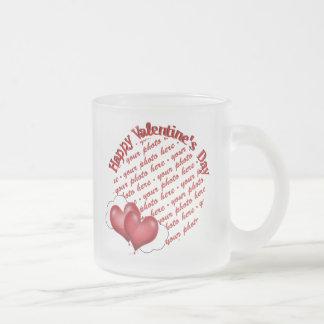 Floating Heart Balloons Valentine Photo Frame Coffee Mug