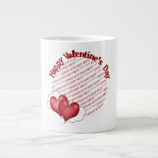 Floating Heart Balloons Valentine Photo Frame Extra Large Mug