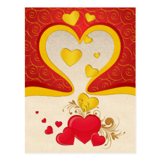 Floating Hearts Postcard