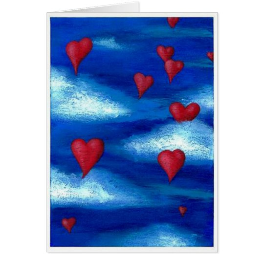 Floating Hearts Valentine Card