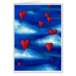 Floating Hearts Valentine Greeting Card