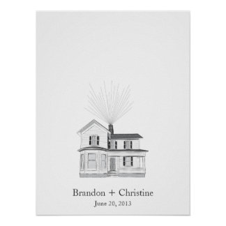 Fingerprint guestbook posters prints zazzle floating home fingerprint guestbook pronofoot35fo Image collections