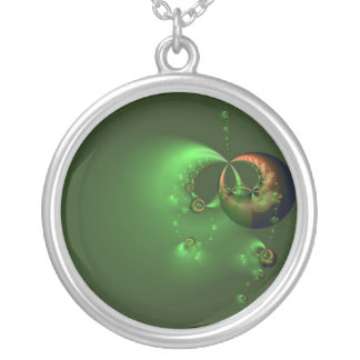 Floating in Green Necklace