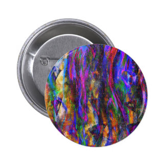 Floating in the flames 6 cm round badge