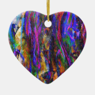 Floating in the flames ceramic heart decoration
