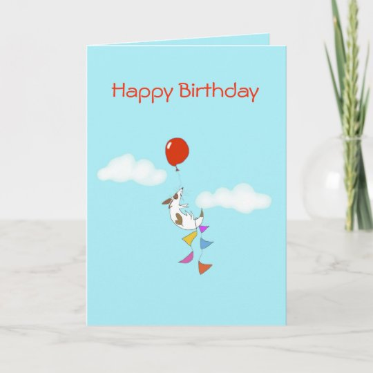 Floating Jack Russell Puppy Birthday Card Zazzle