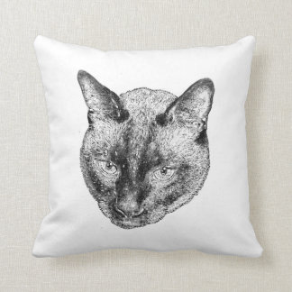 Floating Kitty Head Cushion