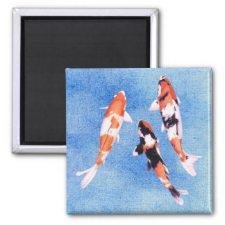 Floating Koi blue Magnet