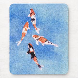 Floating Koi blue Mousepad