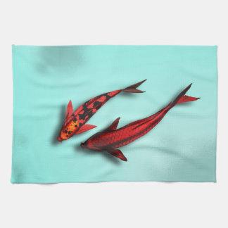 Floating Koi Fish Kitchen Towel