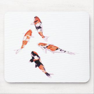 Floating Koi White Mousepad