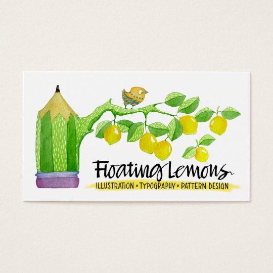 Floating Lemons Business Card