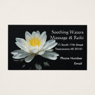Floating Lotus Flower Business Card