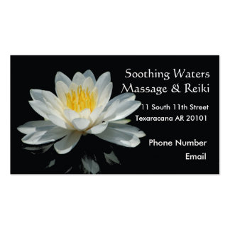 Floating Lotus Flower Business Card Template