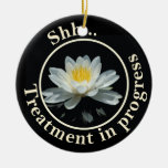 Floating Lotus Flower Do Not Disturb Ornament