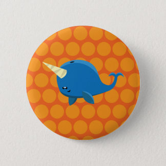 Floating Narwhal - Button