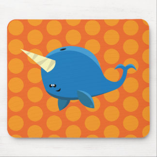 Floating Narwhal - Mousepad