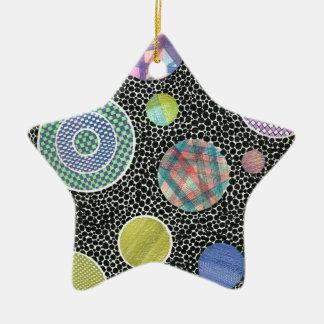 floating on black ceramic star ornament