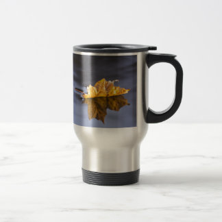 Floating On By Yellow Maple Leaf Coffee Mugs