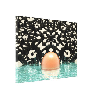 Floating Orange Object Canvas Prints