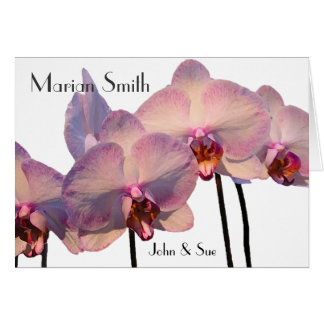 Floating Orchids  - Placecard Note Card