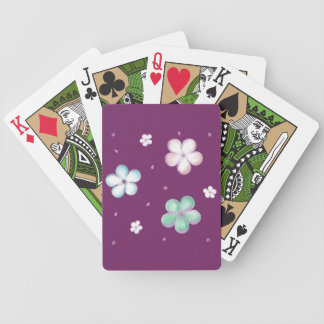 Floating Pastel Bubble Flowers Bicycle Playing Cards