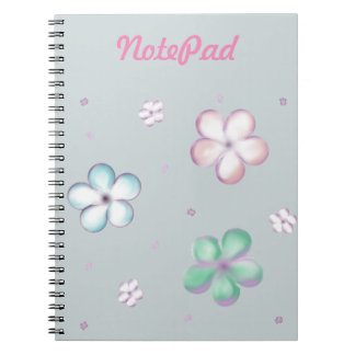 Floating Pastel Bubble Flowers Notebook