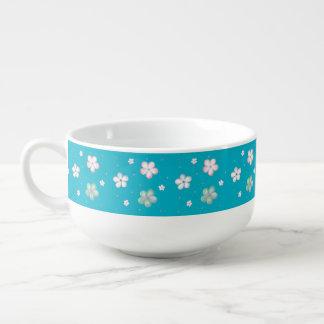 Floating Pastel Bubble Flowers Soup Mug