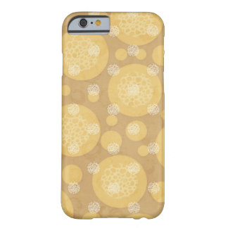 Floating Polka Dots Cream and Light Brown Barely There iPhone 6 Case