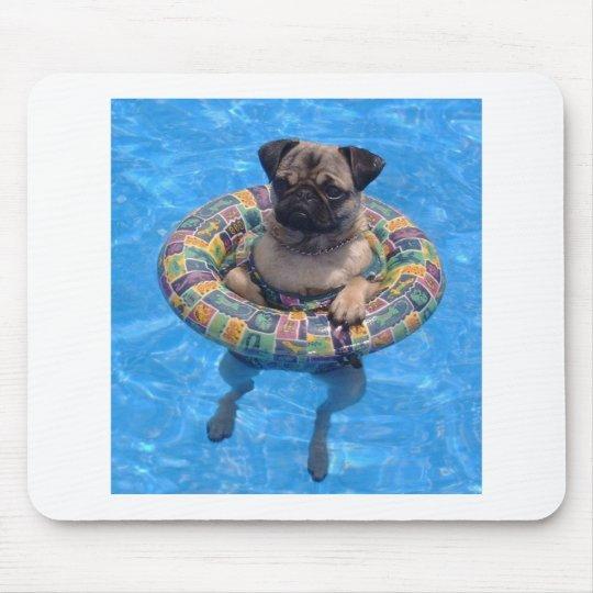 Floating pug mouse mat