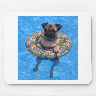 Floating pug mouse pad