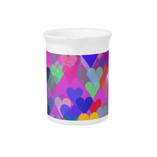 Floating Rainbow Hearts Drink Pitchers