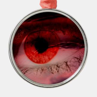 Floating Red Eye Art Christmas Ornament