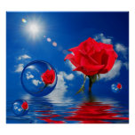 Floating Reflections of Love Poster