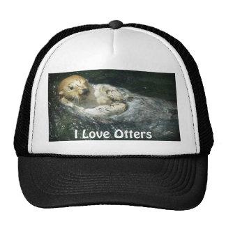 "Floating Sea Otter ""I Love Otters!"" Trucker Hat"