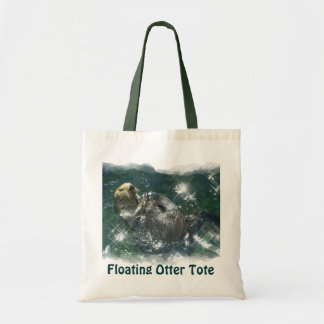 Floating Sea Otter Shopping Tote Series