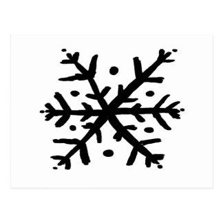 Floating Snowflake - nd Postcard