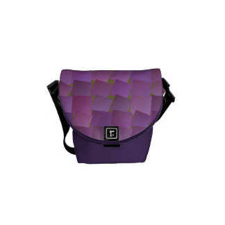 Floating Square Pattern Messenger Bag
