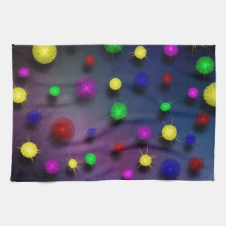 Floating stars tea towel